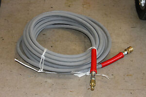 50 Hot Water Pressure Washer Hose With Quick Connects 6000 Psi 3 8