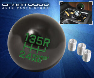 For Dodge 4oz Light Weight Round Ball Type Racing Hand Shift Knob Black Green