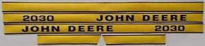 Hood Decal Set Made To Fit John Deere Tractor 2030 Jd2030