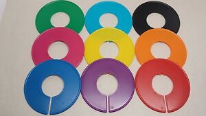 10 New Clothing Blank Size Rack Ring Closet Divider Organizer Colors