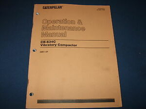 Cat Caterpillar Cb 634c Vibratory Compactor Operation Maintenance Manual 3br