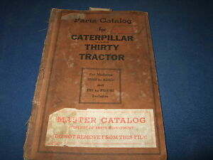 Cat Caterpillar Thirty Tractor Parts Book Manual S4683 s10536 Ps1 ps14292