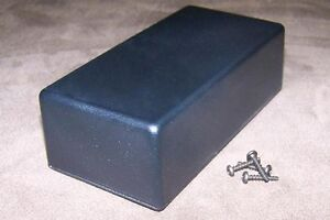Black Plastic Electronic Project Box Enclosure Case 5 X 2 5 X 1 6 10pcs Usa Made
