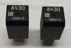 New Gm Oem 4 Pin Electrical Relay 13500113 8430 Set Of 2