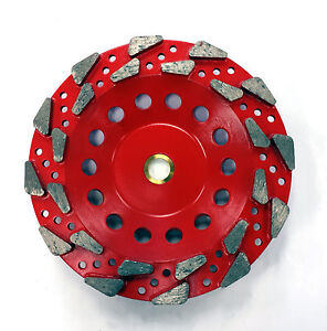 New 7 Aggressive 20 25 Grit Pro Diamond Grinding Cup Wheel 7 8 5 8 Arbor