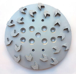 2pk 10 Pro Grinding Head Disc Plate For Edco Floor Grinder 20 Arrow Segments