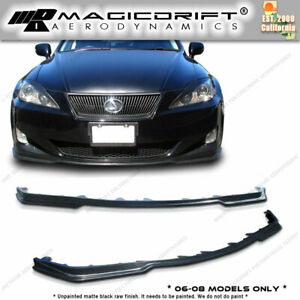 Lexus 06 08 Is250 Is350 Jdm Pm Front Side Skirt Extension Combo Body Lip Kit
