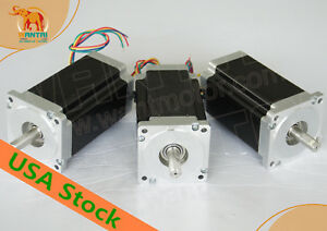 3days Wantai 3pcs Nema34 Stepper Motor 14mm Shaft 6a 12n 1700oz in Cnc Miling