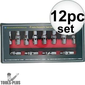 Astro Pneumatic 7412 1 4 Drive 12 Piece Metric Flex Socket Set 6 Point New