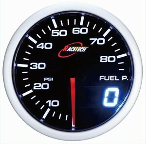 52mm 60mm Digital Dual Gauge Fuel Pressure Meter White red Smoke Led Psi bar