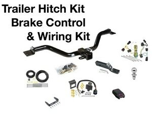 Complete Trailer Hitch Wiring Kit Brake Control Fits A 09 12 Chevy Traverse