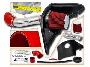Cold Heat Shield Air Intake Red Filter For 12 15 Camaro 3 6l V6