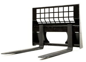 Eterra Skid Steer Pallet Forks 4400 Lb Fits All Modern Skid Steer Loaders