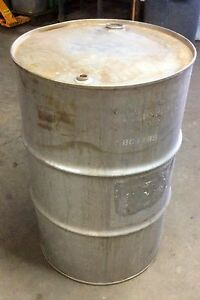 Stainless Steel Drum 55 Gallon Heavy Duty Closed Top Barrel Great For Chemicals