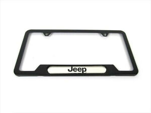 93 20 Jeep License Plate Frame Front Or Rear Fitment Jeep Logo Genuine Oem New