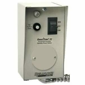 Reliance Controls 20 amp 120v 1 circuit Furnace Transfer Switch