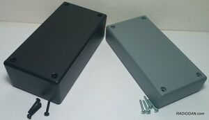 Usa Made Two Plastic Electronic Project Box Enclosure Case 5 X 2 5 X 1 Inch 1 6
