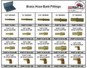 Brass Hose Barb Pipe Fitting Assortment In Large Metal Locking Tray