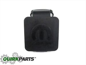 2 Trailer Hitch Receiver Plug Cover Fits All Jeep Dodge Chrysler Oem New Mopar