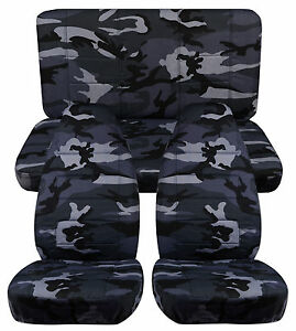 1987 1995 Jeep Wrangler Seat Covers Urban Gray Camo Front And Rear