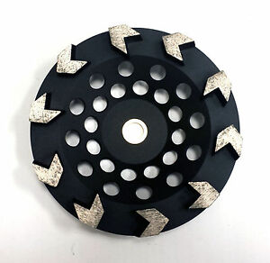 7 Arrow Segment Pro Diamond Cup Wheel For Angle Floor Grinders Premium Quality
