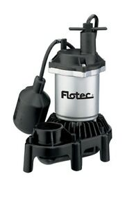 Pentair Water Flotec Simer Fpzs25t 1 4 Hp Submersible Thrmoplastic Sump Pump