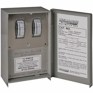 Reliance Controls 50 amp Indoor Wattage Meter