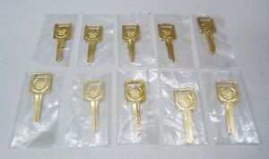 Gm Cadillac 24k Gold Plated Blank Key Set Ignition C Lot Of 10 Keys