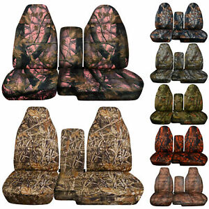 Designcovers Seat Covers 60 40 Hi Back Fit S10 colorado Console Cover Camo
