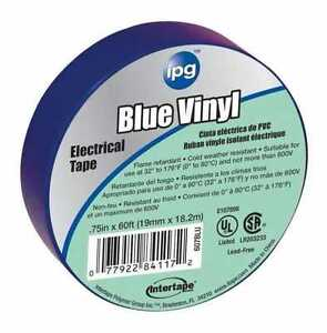 Intertape 85831 36 Pack 75 In X 60 Ft Vinyl Electrical Tape Blue