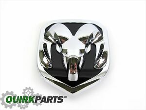 13 18 Dodge Ram 2500 3500 Front Grille Chrome Rams Head Badge Emblem New Mopar