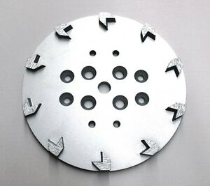 2pk 10 Pro Grinding Head Disc Plate For Edco Floor Grinder 10 Arrow Segments