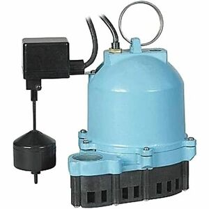 Little Giant Es33v1 10 1 3 Hp Cast Iron Submersible Sump Pump W Vertical F