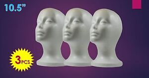 Wig Styrofoam Head Foam Mannequin Display 10 5 3pcs