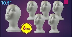 Wig Styrofoam Head Foam Mannequin Display 10 5 6pcs