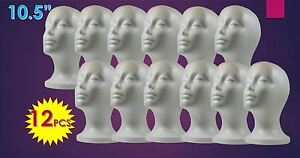 Wig Styrofoam Head Foam Mannequin Display 10 5 12pcs