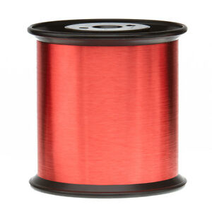 43 Awg Gauge Enameled Copper Magnet Wire 5 0 Lbs 0 0024 155c Red Mw 79 c