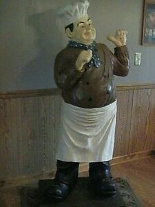 6 Chef Statue Pizza baker Thumb up Restaurant Decoration Statue