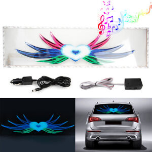90x25cm Car Sticker Music Rhythm Led Flash Lamp Sound Activated Equalizer Light