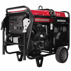 Honda Eb10000 9000 Watt Electric Start Portable Industrial Generator W Gfc