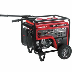 Honda Em5000 4500 Watt Electric Start Portable Generator