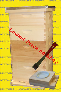 10 frame Bee Hive W Free Entrance Feeder Free Shipping