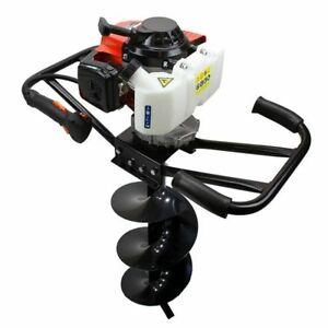 Epa 3hp Two 2 Man 63cc Gas Post Earth Planting Hole Auger Digger Machine 10 Bit
