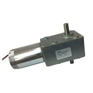 24vdc 6rpm Dc Worm Turbo Gear Motor High Torque With Dual Shaft Output