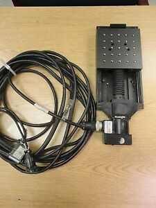 Aerotech Ats204 6 x6 Linear Stage W aerotech Drive 50smb2 hm W 25 Cable