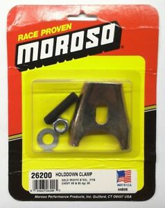 Moroso 26200 Steel Chevrolet Distributor Hold Down Clamp For Hei Bbc And Sbc