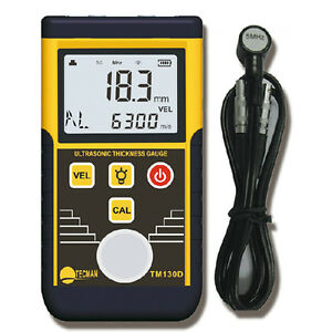 225mm Wall Thickness Gauge Tester Meter Digital Ultrasonic Metal Steel Tm130d