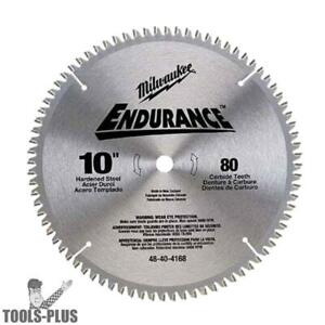 Milwaukee 10 80 Tooth Non ferrous Metal Cutting Saw Blade 48 40 4168 New