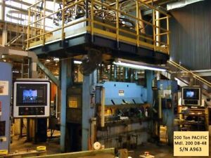 200 Ton Pacific Down Acting Hydraulic Punch Press 24