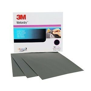 3m 02037 Wetordry Sheet P500 Grit 9 X 11 Inch 2037